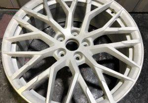 alloy wheel, no paint